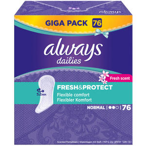Always dailies fresh & protect Slipeinlagen normal Fresh scent Giga Pa EUR/