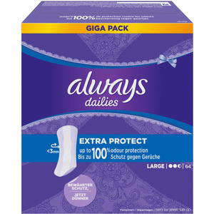 Always dailies Extra Protect Slipeinlagen Large Giga Pack