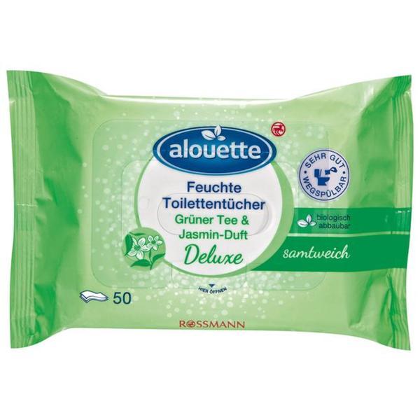 alouette feuchte Toilettentücher Grüner Tee & Jasmin-Duft Deluxe