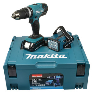 Makita Akku-Schlagbohrschrauber-Set DHP453RYLJ