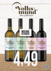 Volksmund Grauer Burgunder, Riesling, Dornfelder oder Rotwein Cuvée