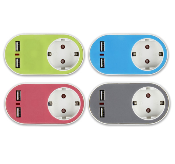 HOME IDEAS LIVING USB-Steckdosen-Adapter