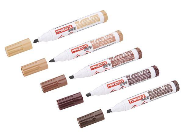 geruchsarm Permanent deckend und schnell trocknend┇Lichtecht POWERFIX Holzkorrekturstift MAHAGONI wasserbeständig und wischfest