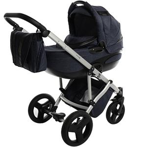 Knorr-Baby - Kombikinderwagen Vivvy, blau-schwarz