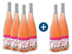 4+2 x 0,75-l-Flasche Pierre Chainier Rosé d'Anjou AOP halbtrocken, Roséwein