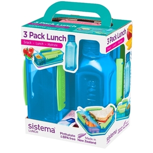 Sistema - Lunch Trio Pack, 3-tlg., sortiert