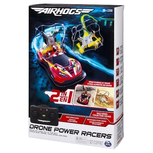 Air Hogs - R/C Power Racer Drone 2 in 1, rot