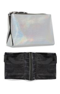 Große, holografische Make-up-Tasche