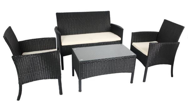 Giardino seat cube rattan dining table chairs garden outdoor