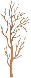 Wanddeko - Baum - aus Metall - 36 x 1 x 91,5 cm