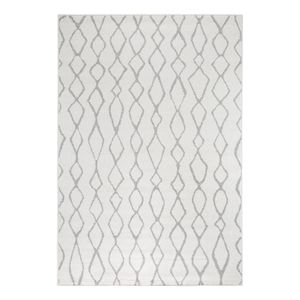 Teppich Bolonia II - Kunstfaser - Cremeweiß / Grau - 160 x 230 cm, andiamo