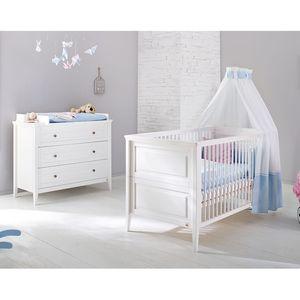 Babyzimmerset Smilla Kids (2-teilig) - Kiefer massiv - Weiß, Pinolino