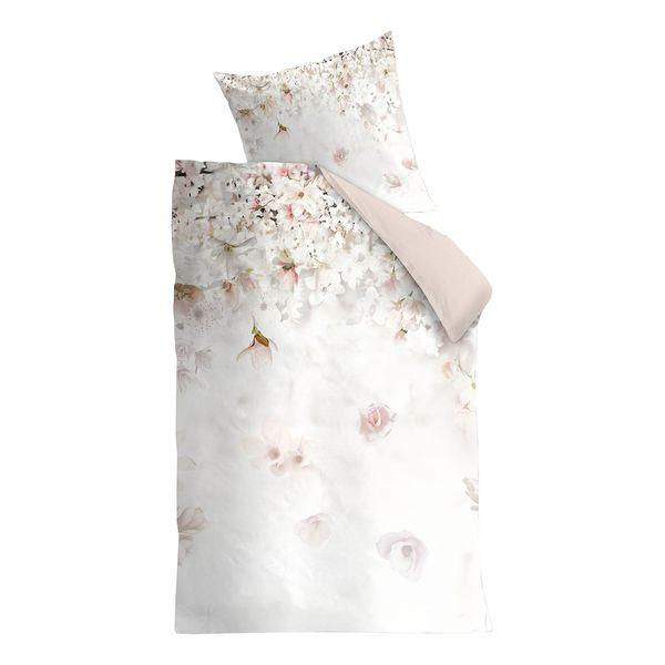 Bettwäsche Spring Blossom Baumwollstoff Beige Rosa 155 X 220