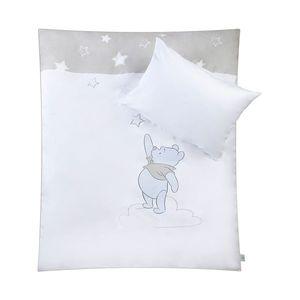 Babybettwäsche Pooh mein Stern - Baumwollstoff - Weiß / Grau, Disney