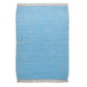 Teppich Cotton (handgewebt) - Baumwollstoff - Türkis - 57 x 120 cm, Tom Tailor