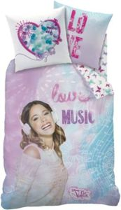 Kinderbettwäsche Disney Violetta Love, Linon, 135 x 200 cm