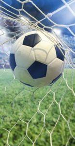 Strand- / Badetuch Fußball, 75 x 150 cm