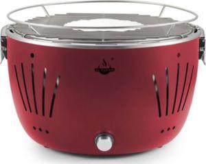 El Fuego Tulsa USB-Tisch-Holzkohlegrill inkl. Tragetasche, rot