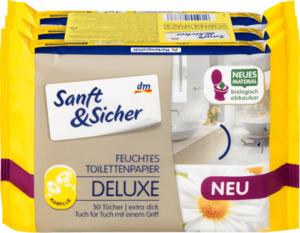 Sanft&Sicher Feuchtes Toilettenpapier Deluxe Kamille 3x50 St