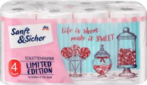 Sanft&Sicher Toilettenpapier Candy 16x150Bl