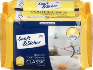 Sanft&Sicher Toilettenpapier feucht Classic Kamille Doppelpack 2x70St