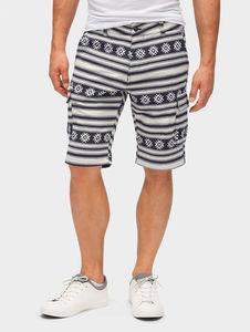 Tom Tailor Denim Hosen & Chino Gemusterte Cargo Bermuda Shorts, Atlantic Ocean Blue, XS