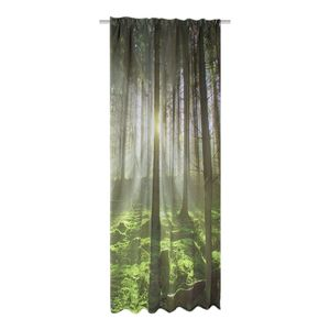 Verdunkelungsvorhang Grüner Wald - Webstoff - Grün, Ars Natura