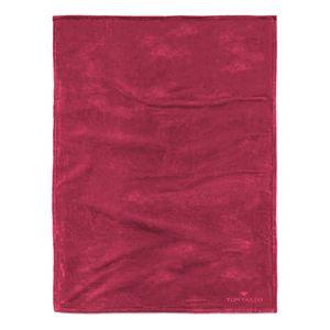 Fleece Decke Angorina - Rot, Tom Tailor