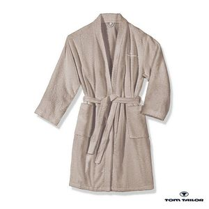 Frottier Kimono Bademantel - Sand - M, Tom Tailor
