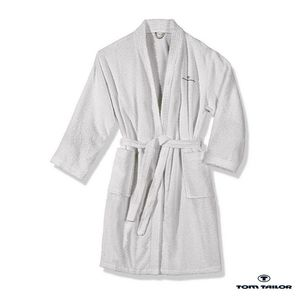 Frottier Kimono Bademantel - White - M, Tom Tailor