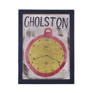 Wandschild Watch - Mango massiv - lackiert, ars manufacti