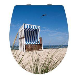 WC-Sitz Strandkorb - Mehrfarbig, Wenko
