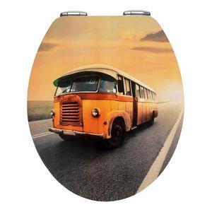 WC-Sitz Vintage Bus - Mehrfarbig, Wenko