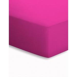 SCHLAFGUT Jersey-Spannbetttuch in Pink 150 x 200 cm