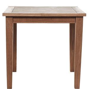 Holztisch mit Schnitzerei