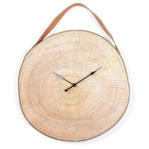 Uhr Baumscheibe, D:40cm, natur
