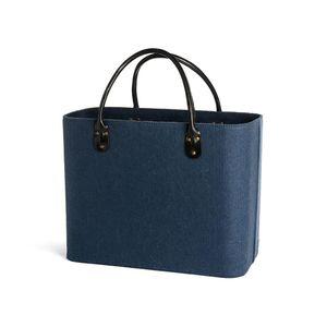 Filztasche, 40x19x30cm, blau