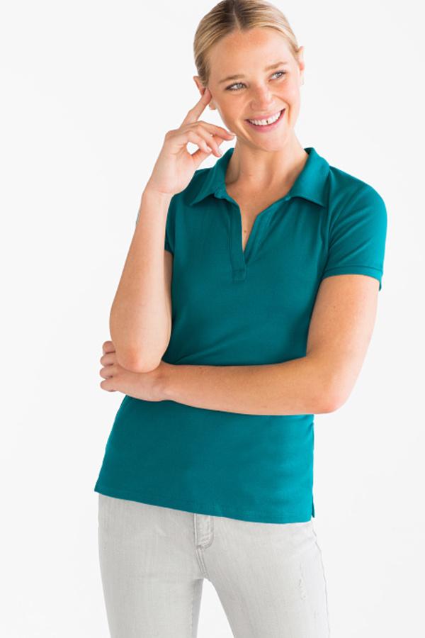 neuer Stil & Luxus beispiellos attraktiver Stil Yessica, Basic-Poloshirt - Bio-Baumwolle