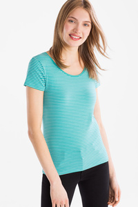 Yessica         Basic-T-Shirt - Bio-Baumwolle - gestreift