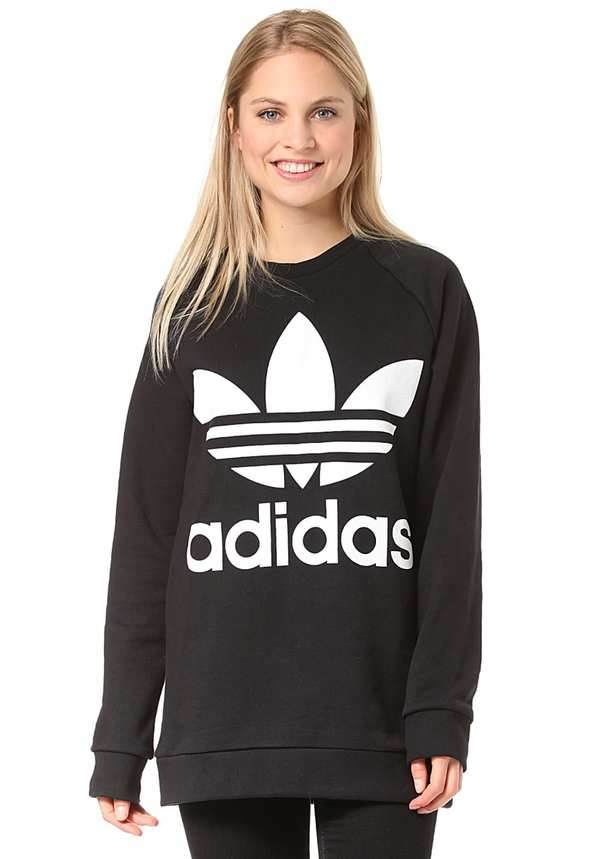 hot products casual shoes top brands adidas Oversized - Sweatshirt für Damen - Schwarz von Planet ...
