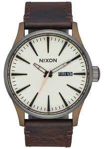 Nixon Sentry Lthr - Uhr für Herren - Braun