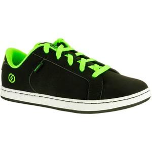 OXELO Sneaker Crush Beginner Skaterschuhe Kinder schwarz/grün, Größe: 35