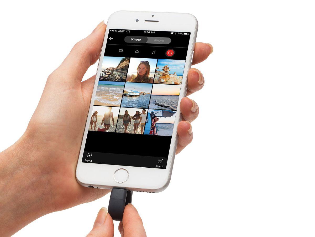 Bild 3 von SanDisk iXpand Flash-Laufwerk V2, 256 GB, für Apple iPhone/iPad, schwarz
