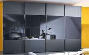Steffen - Panoramaschwebetürenschrank 20UP in schwarz