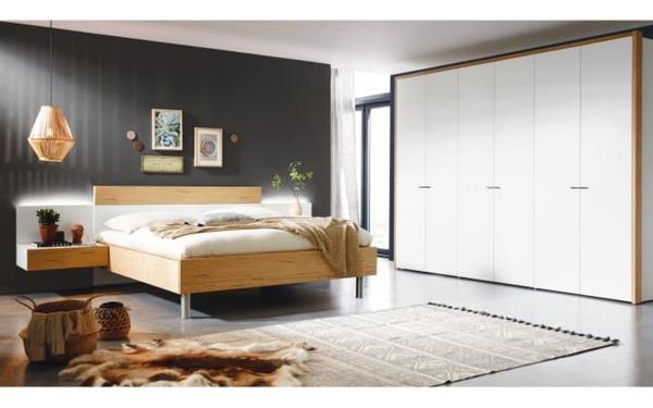 hülsta - Schlafzimmer Citada in weiß/Eiche Naturstamm von HARDECK ...