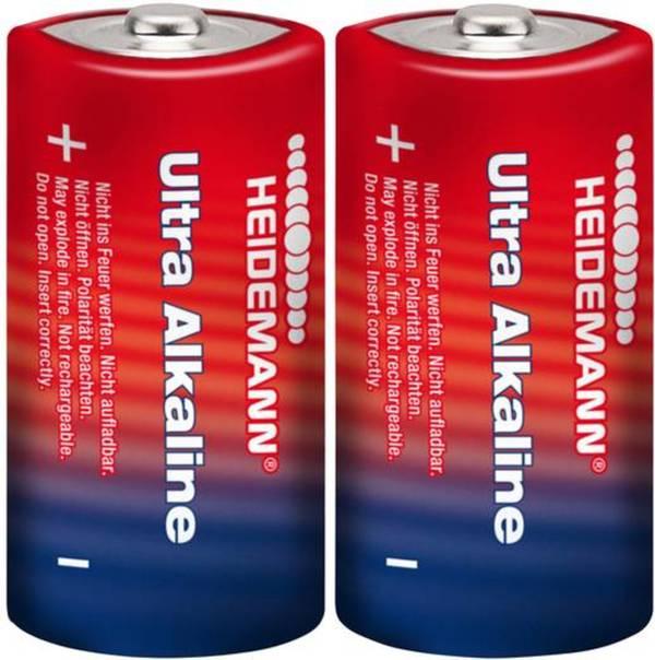 Baby (C)-Batterie Alkali-Mangan Heidemann Ultra 1.5 V 2 St.
