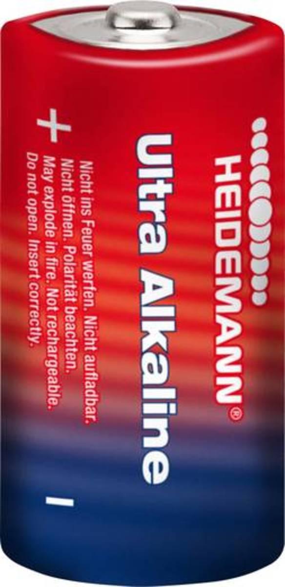 Bild 2 von Baby (C)-Batterie Alkali-Mangan Heidemann Ultra 1.5 V 2 St.