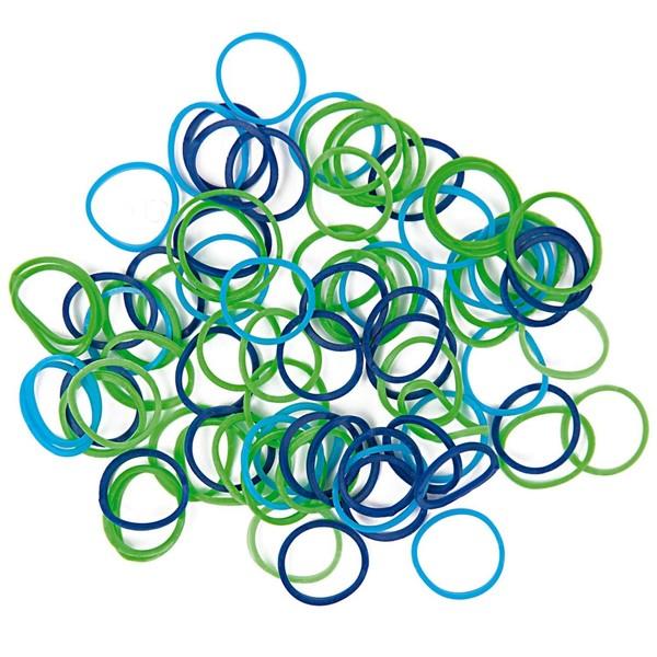 Jewellery Made by Me Loom Bänder Mix blau ca. 100 Stück