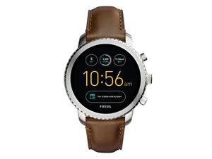 FOSSIL Q Explorist, Hybrid Smartwatch, mit Lederarmband, dunkelbraun