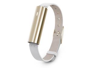 Misfit Ray, Aktivitätstracker, mit weißem Lederarmband, Bluetooth, gold